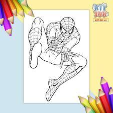 Mô hình giấy Tranh tô màu Marvel Avengers siêu anh hùng TTM-0007 -  Kit168.vn Shop Online mô hình giấy
