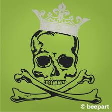 Skull With Crown Wall Decal Crown Skull Wall Sticker Art Dead King Art Skull Decor Goth Decor Skeleton Art Skull Art