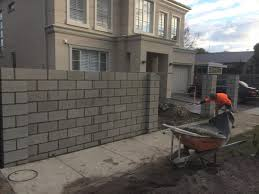 Block Front Fence Elsternwick Ss Bricklaying