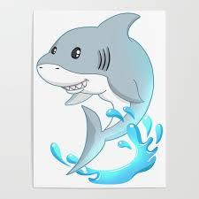 funny shark cartoon t shirt