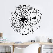 Cartoon Vinyl Sticker Babys Bedroom Wall Decal Winnie The Pooh Wall Mural Removable Kids Bedroom Decor Vinyl Wall Sticker Ay0199 Buy At The Price Of 6 71 In Aliexpress Com Imall Com
