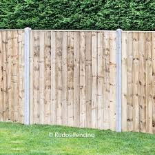 Closed Board Panels With Concrete Posts Kudos Fencing Uk Delivery