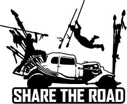 Amazon Com Crazydecals Mad Max Fury Share The Road Vinyl Decal Car Window Bumper Truck Wall Decor Sticker Clothing