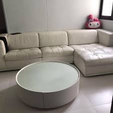 leather sofa include coffee table on