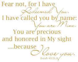Decal Wall Sticker I Have Called You By Name You Are Mine Isaiah 43 1 Contemporary Wall Decals By Design With Vinyl