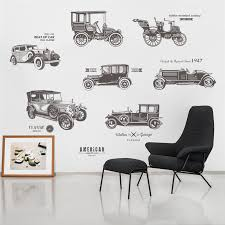 Vintage Car Wall Stickers For Kids Room Bedroom Children Boy Room Poster Decore Ebay