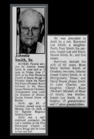 Johnnie Smith, Sr (1930-2016) - Find A Grave Memorial