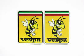 Car Styling Italy Honeybee Motorcycle Helmet Car Sticker Decals For Vespa Piaggio Bee Decals Stickers Aliexpress