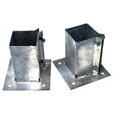 2 X Bolt Down Post Shoes 75 X 75mm Fence Fixing Hot Dipped Galvanised Hardware Ebay
