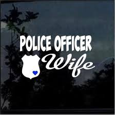 Police Officer Wife Car Window Decal Sticker Midwest Sticker Shop