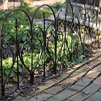 Scroll And Finial Garden Edging Black Galvanized Steel Panel 2ft X 21 5in Garden Edging Black Garden Fence Iron Fence