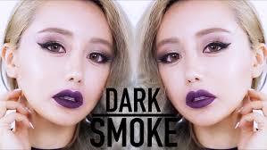 dark lip smokey makeup tutorial