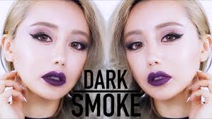 dark lip smokey makeup tutorial