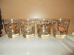 gold stripes rocks glasses bar barware