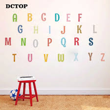Creative Alphabet Abc Wall Decal Stripe Style Letters Diy Art Vinyls Stickers For Nursery Baby Bedroom Home Decorative Wallpaper Wall Stickers Aliexpress