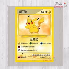 Invitacion Cumpleanos Pokemon Pokemon Go Carta X 35 385 00 En