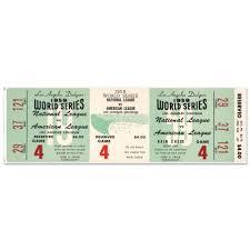 Los Angeles Dodgers 1959 World Series Ticket 72 Wall Decal Walmart Com Walmart Com