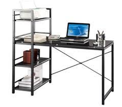 desk with 4 shelf etagere at sharper