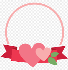 banner heart frame cookie cutter