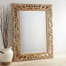 fl carved wood frame mirror pier