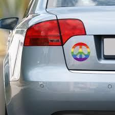 Rainbow Peace Large Bumper Sticker