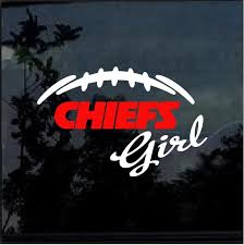 Kansas City Chiefs Girl Window Decal Sticker Custom Sticker Shop