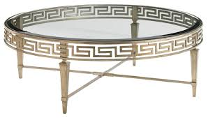 deerfield round coffee table gold