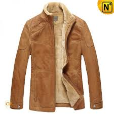 mens fur lined cowhide leather