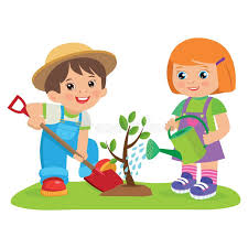 Kids Gardening Cartoon Stock Illustrations – 1,053 Kids Gardening ...