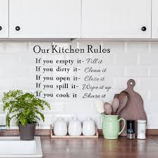Shop Kitchen Rule Pattern Wall Sticker Removable Art Decal For Bedroom Living Room Black On Sale Overstock 29258226