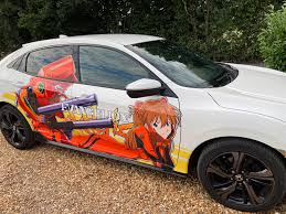 Decided To Take Up On Honda S Collaboration With Evangelion And Get This Decal On My Civic Sport Evangelion