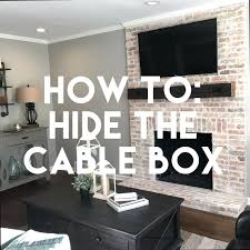 how to hide cable box evrobrend info