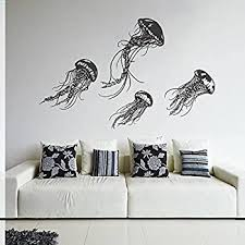 Amazon Com Tentacles Wall Decal Kraken Octopus Tentacles Wall Sticker Sea Animal Wall Decal Mural Home Art Decor Black Home Kitchen