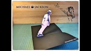 Tarjeta Popup De Michael Jackson En 3d Para Descargar E Imprimir
