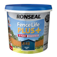 Ronseal Fence Life Plus Midnight Blue Matt Fence Shed Wood Treatment 5l Departments Diy At B Q