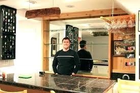 basement bar shelf ideas glass shelves