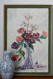"""Large Original Oil Painting titled """"Bouquet"""" by Effie May Jones -  Dated 1960 by CapitolVintageCharm from Capitol Vintage Charm of Capitol  Hill - Washington, DC 