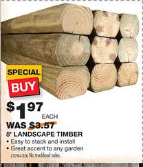 1 97 For 8 Foot Landscape Timbers At Home Depot Reg Price 3 57 Al Com