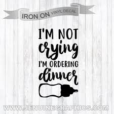 Iron On Decal Baby Shirt Iron On Funny Baby Gift Baby Etsy