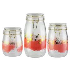 style setter kitchen glass canister set
