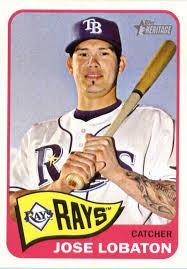 Amazon.com: 2014 Topps Heritage Baseball Card #401 Jose Lobaton ...