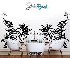 Vinyl Wall Decal Henna Tattoo Swirls Ac117 Stickerbrand