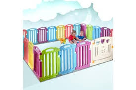 Cuddly Baby Playpen 25 Panel Plastic Play Pen Interactive Kids Toddler Gate Matt Blatt