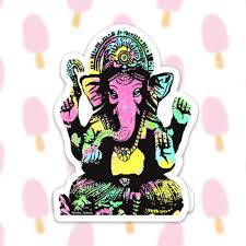 Ganesha Sticker Decal Vinyl Stickers For Laptops Car Decals Notebook Sticker Phone Sticker Yoga Sticker Elephant Sticker Hindu God
