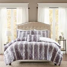 madison park zuri faux fur comforter