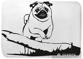 Mops Pug Jumping Bath Mat Pixers We Live To Change