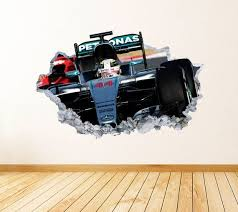 Formula 1 Wall Art Decal Mercedes Theme Wall Decor Bedroom Vinyl Wall Sticker Vinyl Wall Stickers Wall Decals