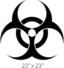 Amazon Com Vinyl Decal Mural Sticker Biohazard Nuclear Sign Logo Weapon Label Radio Activ Hood Auto Graphics Fit Car Ar1567 Kitchen Dining