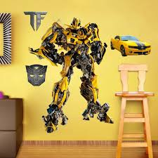 Transformer Bumblebee Wall Decal Wall Stickers Wall Decals Girly Bedroom