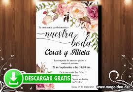 Invitacion De Boda Para Imprimir Gratis Mega Idea